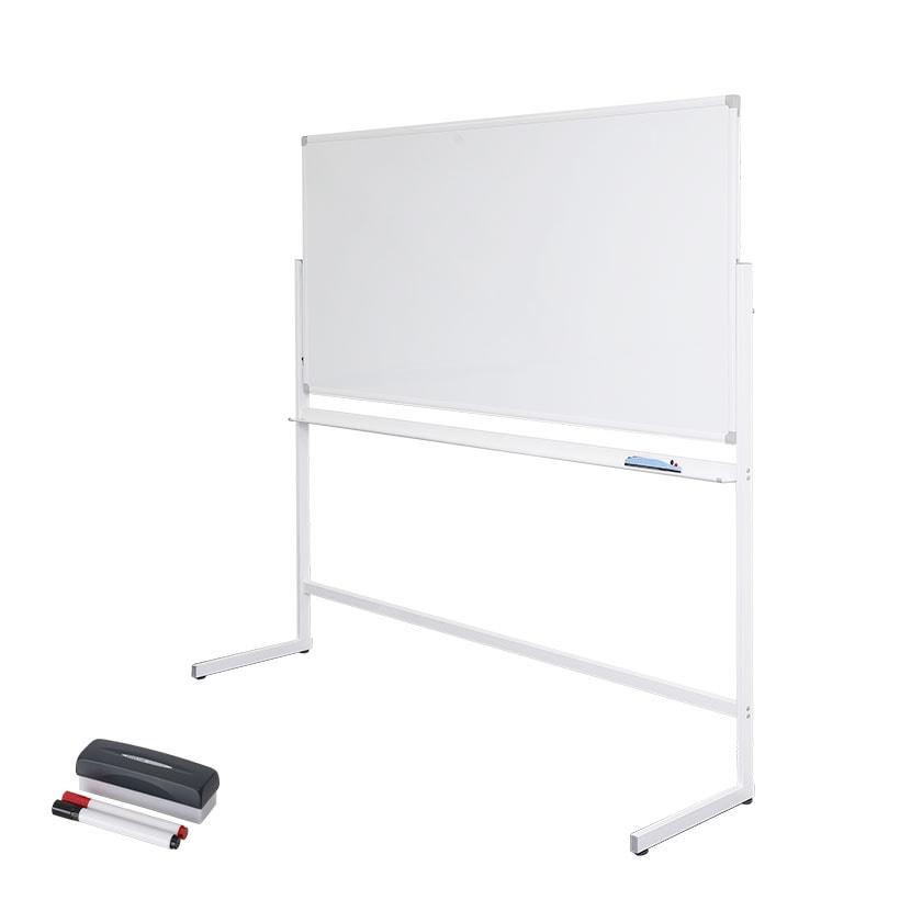 ホワイトボード 脚付き L字脚 片面 マグネット対応 1800×900mm OC-WB1890L 白板