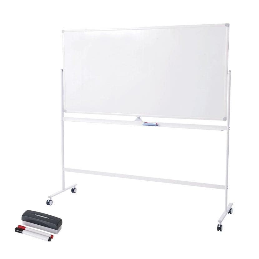 ホワイトボード 脚付き 両面 1800×900mm マーカーセット付き マグネット対応 OC-WB1890R 白板