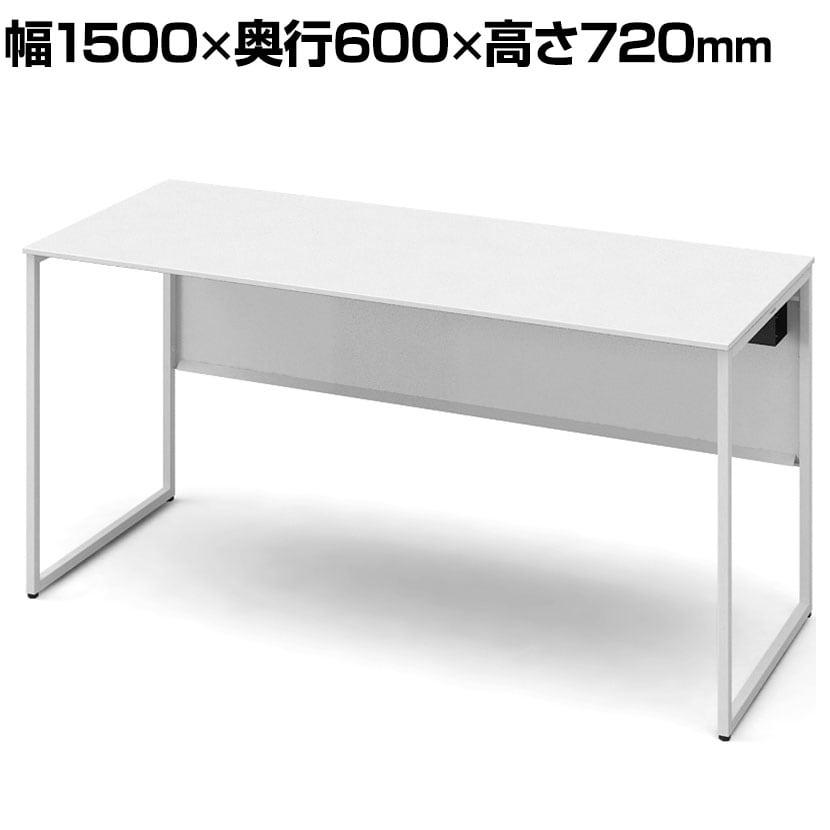3K20NC MK27 | ソリスト Soliste スタンダードタイプ(高さ720) 平机 フレーム脚(ネオホワイト) メラミン天板(ホワイト) 幅1500×奥行600×高さ720mm (オカムラ)