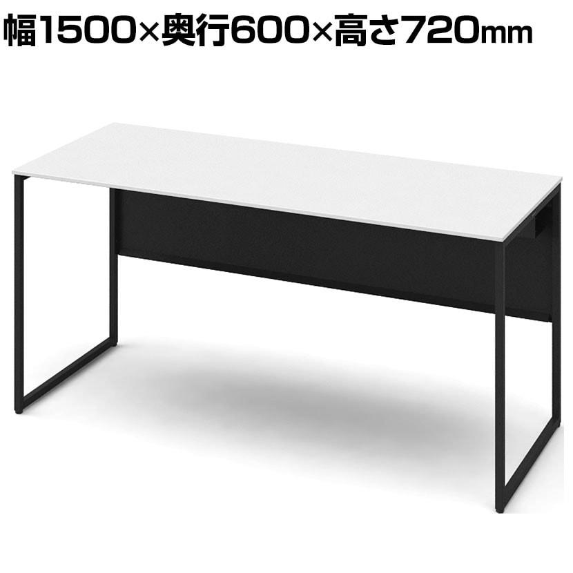 3K20NC MK61 | ソリスト Soliste スタンダードタイプ(高さ720) 平机 フレーム脚(ブラック) メラミン天板(ホワイト) 幅1500×奥行600×高さ720mm (オカムラ)