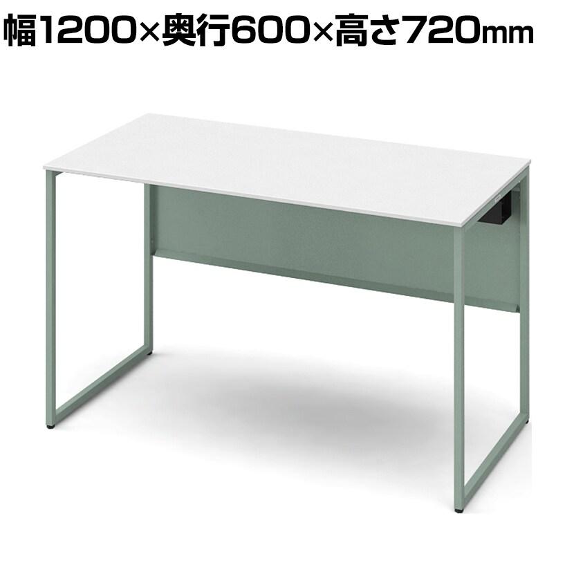 3K20CE MHJ1 | ソリスト Soliste 平机 メラミン天板(ホワイト) フレーム脚(セージ) 幅1200×奥行600×高さ720mm (オカムラ)