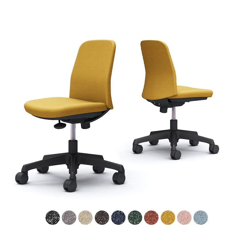 CD13AR   ライブス エントリーチェア Lives Entry Chair(コンパクトタイプ) オフィスチェア 椅子 肘なし ブラックボディ インターロック(オカムラ)
