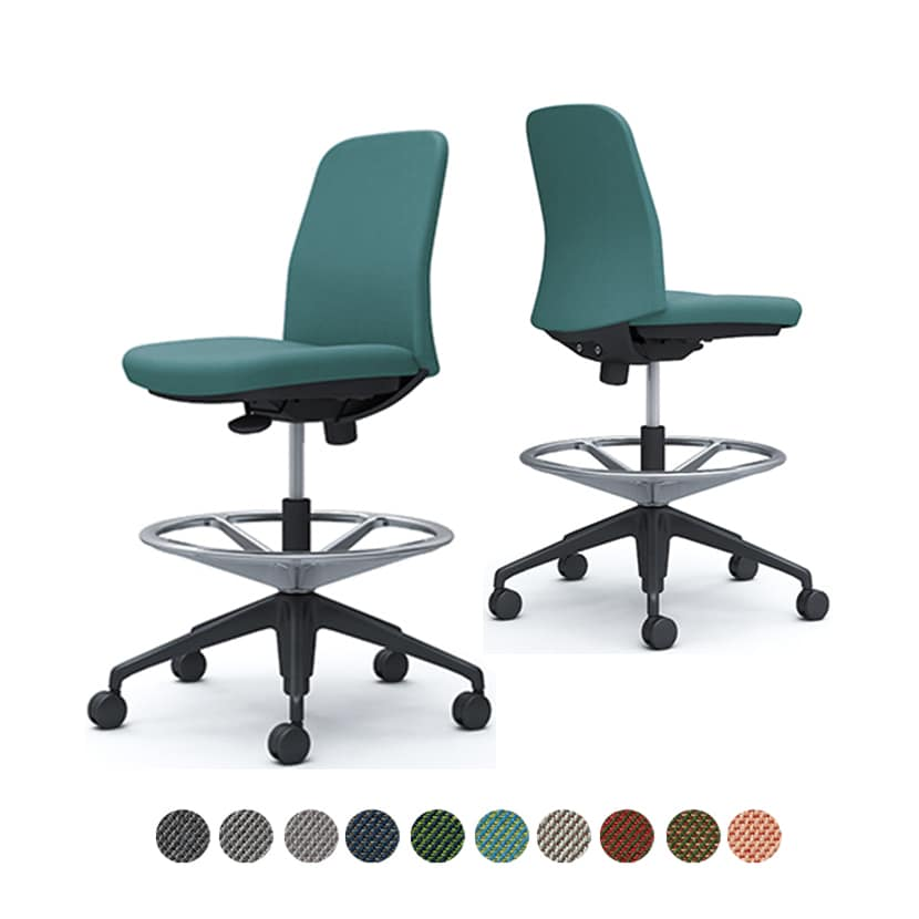 CD13JR | ライブス エントリーチェア Lives Entry Chair オフィスチェア 椅子  肘なし ハイチェア ブラックボディ ツイル (オカムラ)