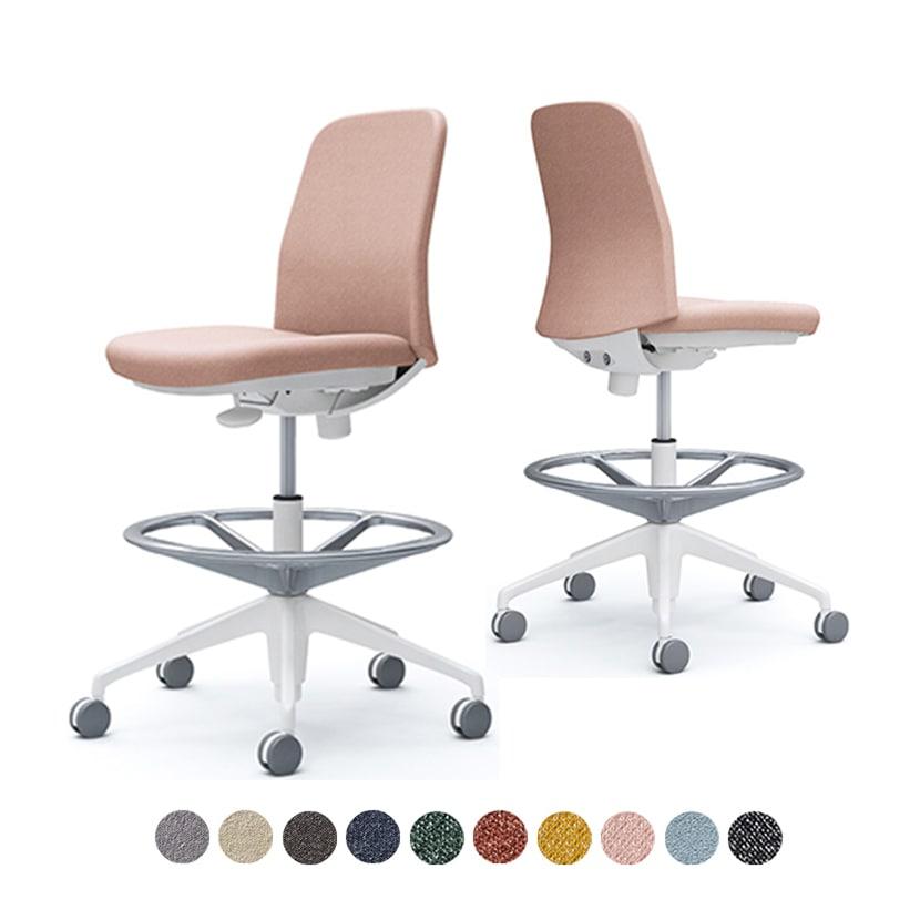 CD13JW | ライブス エントリーチェア Lives Entry Chair オフィスチェア 椅子  肘なし ハイチェア ホワイトボディ インターロック (オカムラ)