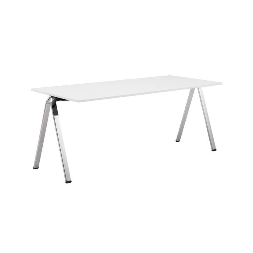 L685AB | wiesner hager Flessi フレッシ ホワイト/ネオウッドライト 幅1316×奥行800mm オフィス カフェ テーブル スタッキングテーブル (オカムラ)