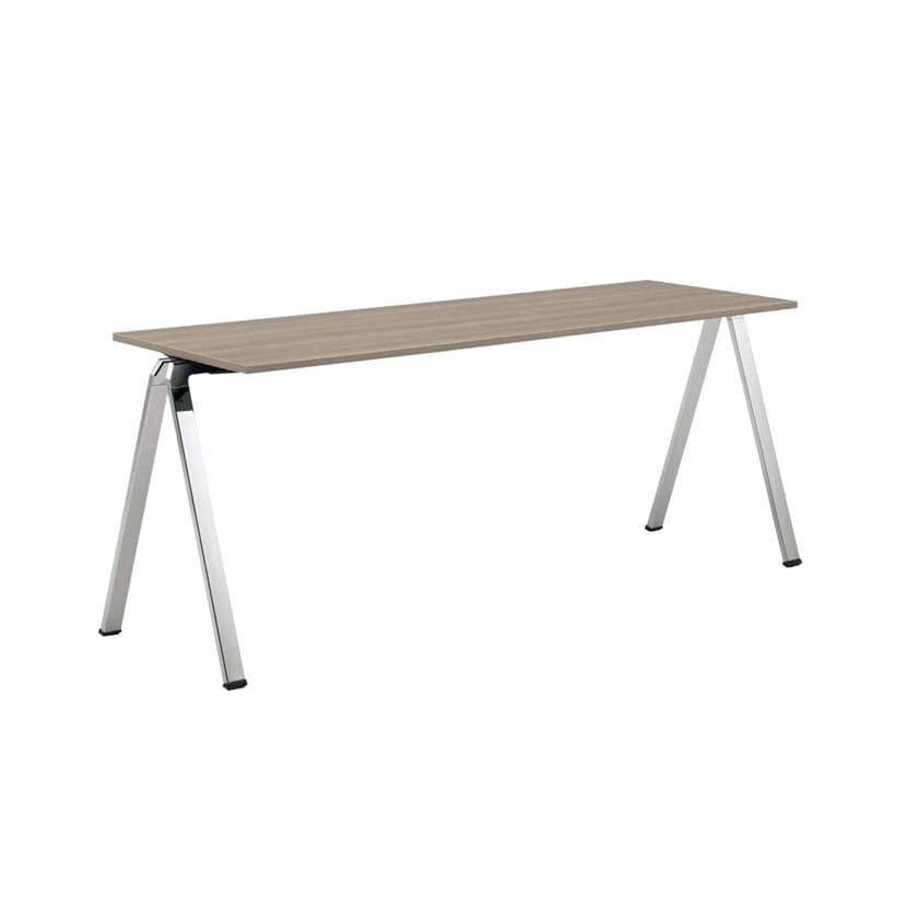 L685BA | wiesner hager Flessi フレッシ ホワイト/ネオウッドライト 幅1716×奥行600mm オフィス カフェ テーブル スタッキングテーブル (オカムラ)