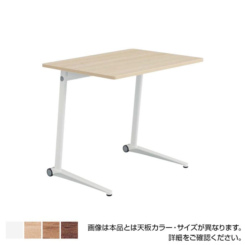 MS85BJ   ライブス パーソナルテーブル スクエア天板 幅650×高さ700mm ホワイト脚 ホワイト/ネオウッド 水平天板(オカムラ)