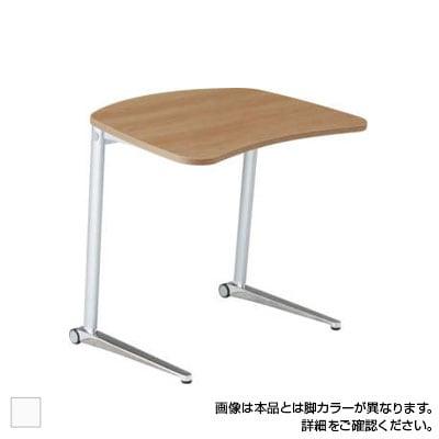 MS85FA | シフト shift パーソナルテーブル 幅650mm ホワイト脚 傾斜天板 ローラーキャスター付き (オカムラ)