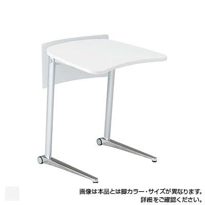 MS85FD | シフト shift パーソナルテーブル 幅800mm 幕板付き ホワイト脚 傾斜天板 ローラーキャスター付き (オカムラ)