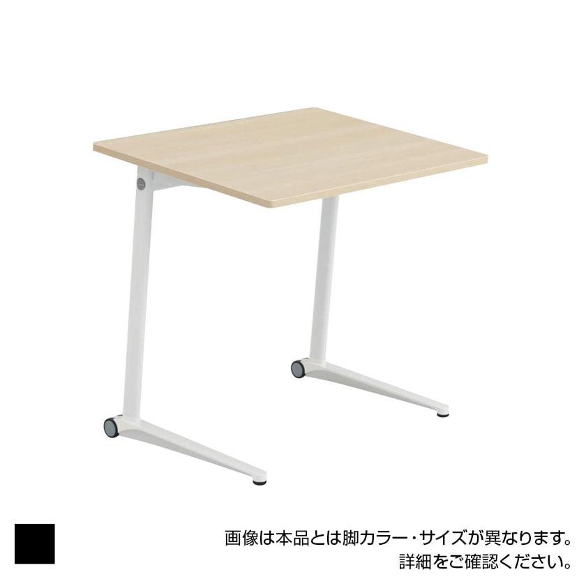 MS85GK | ライブス パーソナルテーブル スクエア天板 幅800×高さ700mm ブラック脚 プライズウッド 傾斜天板(オカムラ)