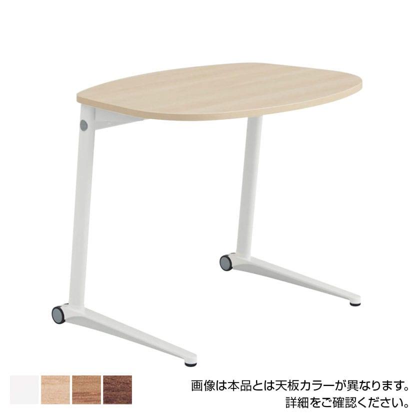 MS85JF | ライブス パーソナルテーブル ラウンド天板 幅792×奥行629×高さ650mm ホワイト脚 ホワイト/ネオウッド 水平天板(オカムラ)