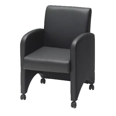 プラス 応接会議ネクシスソファ 応接椅子(組み立て式) 肘付 / PB-NX-UP01-N