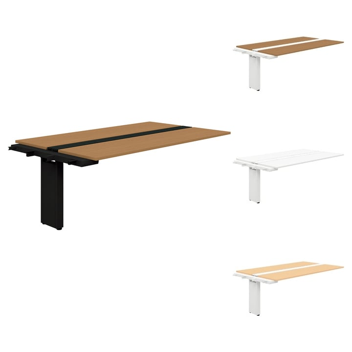 【追加/増設用】PLUS Genelaシリーズ 両面ジョイントセット デスク/テーブル 幅2000×奥行1225×高さ720mm GE-2012WJ