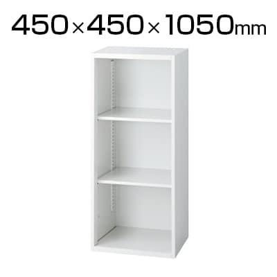 L6-105EC | L6 オープン保管庫 L6-105EC W4 ホワイト 幅450×奥行450×高さ1050mm プラス(PLUS)