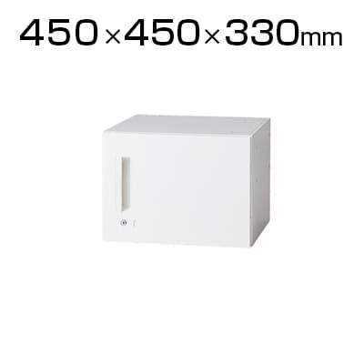 L6-30ACR | L6 片開き保管庫 L6-30ACR ホワイト 幅450×奥行450×高さ330mm プラス(PLUS)