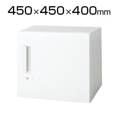L6-40ACR | L6 片開き保管庫 L6-40ACR W4 ホワイト 幅450×奥行450×高さ400mm プラス(PLUS)