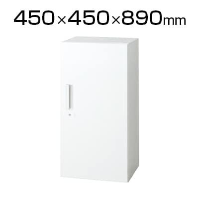 L6-90AC | L6 片開き保管庫 L6-90AC W4 ホワイト 幅450×奥行450×高さ890mm プラス(PLUS)