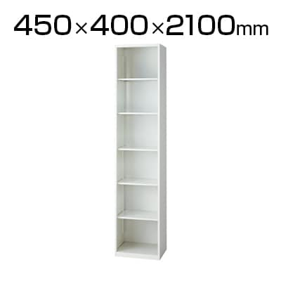 L6-A210EC | L6 オープン保管庫 L6-A210EC W4 ホワイト 幅450×奥行400×高さ2100mm プラス(PLUS)