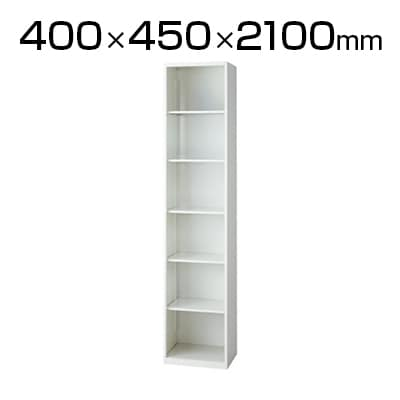 L6-E210EC | L6 オープン保管庫 L6-E210EC W4 ホワイト 幅400×奥行450×高さ2100mm プラス(PLUS)