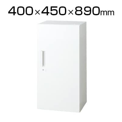 L6-E90AC | L6 片開き保管庫 L6-E90AC W4 ホワイト 幅400×奥行450×高さ890mm プラス(PLUS)