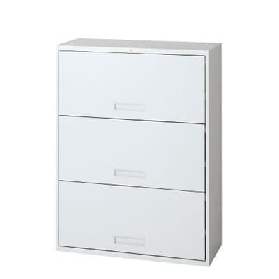 L6-G105HO-3 | L6 オープンラテラル3段 L6-G105HO-3 W4 ホワイト 幅800×奥行400×高さ1050mm プラス(PLUS)