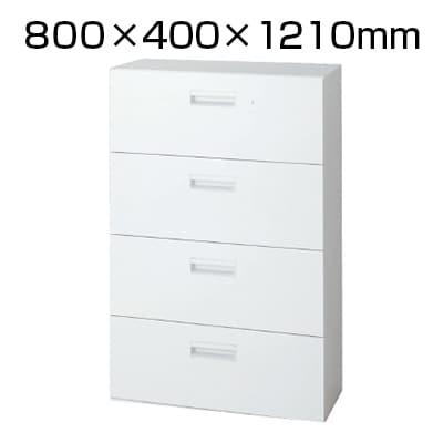L6-G120H-4 | L6 ラテラル保管庫4段 L6-G120H-4 W4 ホワイト 幅800×奥行400×高さ1210mm プラス(PLUS)