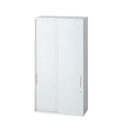 L6-G120S | L6 引違い保管庫 L6-G120S W4 ホワイト 幅800×奥行400×高さ1210mm プラス(PLUS)