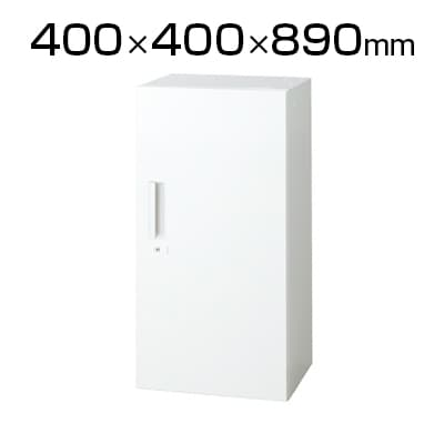 L6-G90AC | L6 片開き保管庫 L6-G90AC W4 ホワイト 幅400×奥行400×高さ890mm プラス(PLUS)