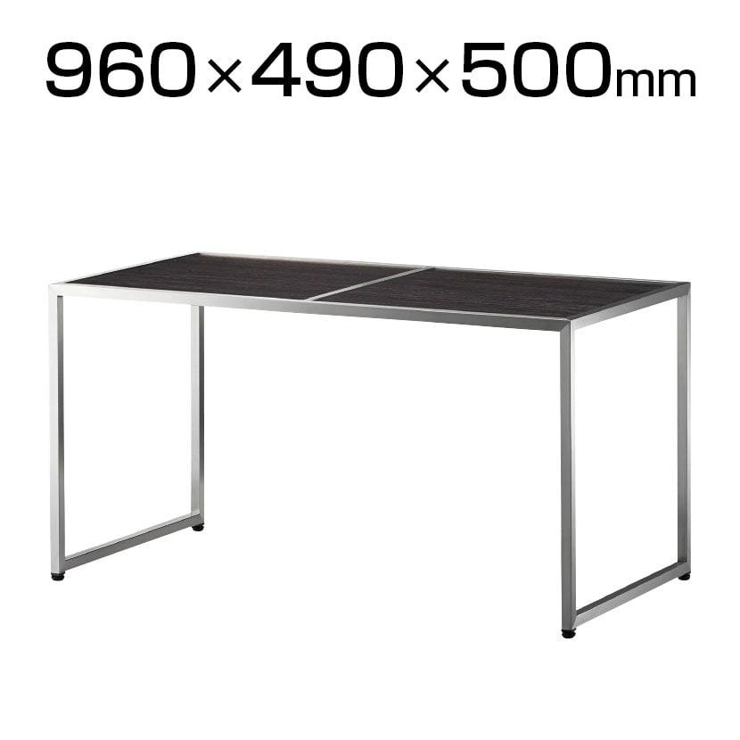 屋外対応リバーシブルテーブル 打ち合わせテーブル 業務用テーブル セラミックタイル天板:白黒 幅960×奥行490×高さ500mm テーブル アウトドア対応 TB-66-OV
