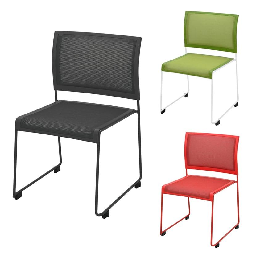 ループ脚チェア スタッキングチェア 会議椅子 幅515×奥行530×高さ804mm QUE