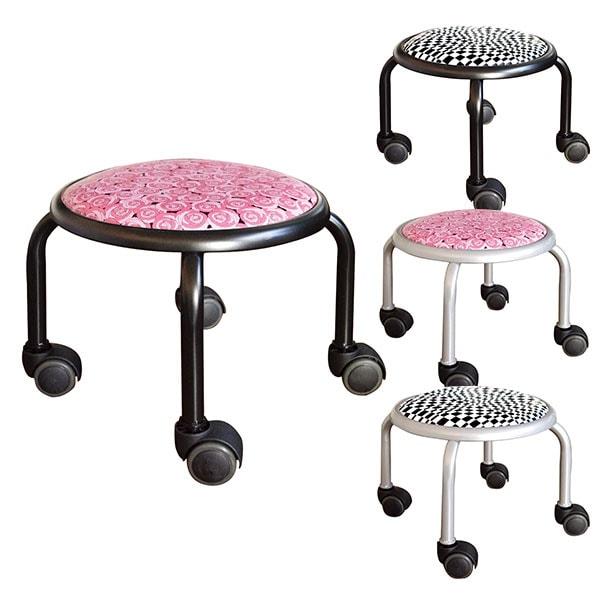 ローキャスター ボン アート 高耐荷重(100kg)強じん脚キャスターチェアー 低座位作業用チェアー スタッキング可能 作業椅子
