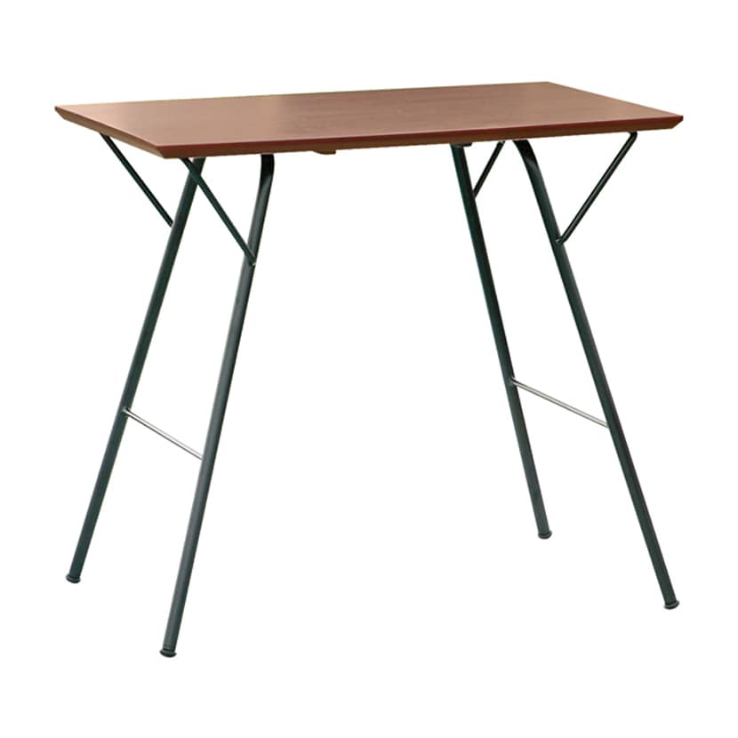 トラス スクエアテーブル オフィステーブル おしゃれ 折りたたみテーブル 薄型 完成品 日本製 幅765×奥行500×高さ680mm