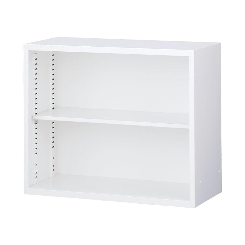 【国産】【完成品】オープンスチール書庫 (上置用) ホワイト 幅880×奥行400×高さ730mm オフィス キャビネット