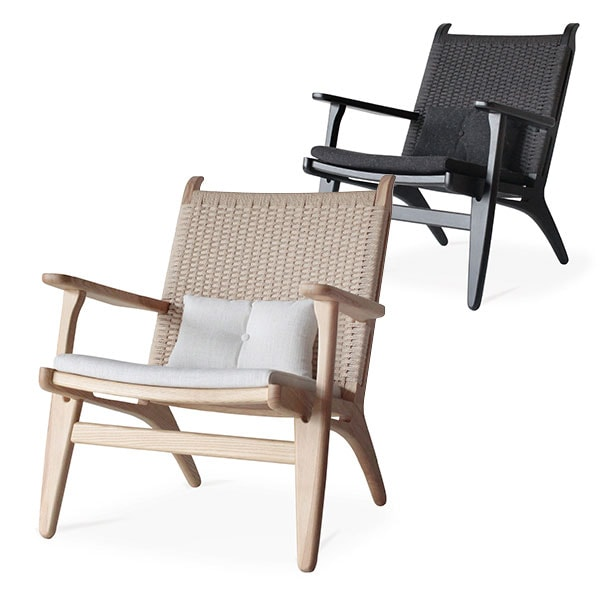 【ナチュラル:11月下旬入荷予定】Comfy(コンフィー) Natural Line/Black Line Cider Loungechair (シードル ラウンジチェア) 木製イス タモ材 幅680×奥行740×高さ830mm SK-Cider