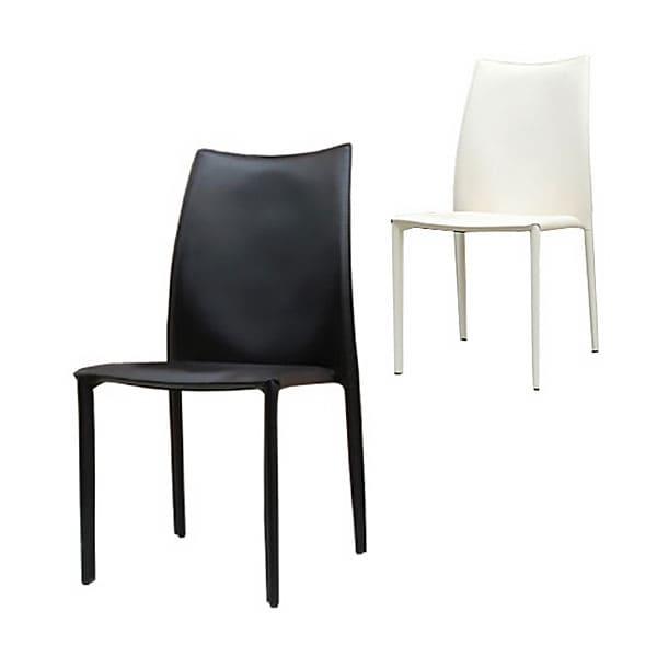 【ブラック:10月上旬入荷予定】Comfy(コンフィー) Black Line ParkerII Chair (パーカーII チェア) スチールレザーイス 幅460×奥行600×高さ870mm 座面高さ440mm スタッキング4脚まで