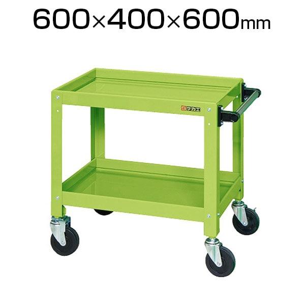 CSSA-606| サカエ ニューCSパールワゴン(ゴム車) 均等耐荷重120kg/段 ツールワゴン 幅600×奥行400×高さ600mm