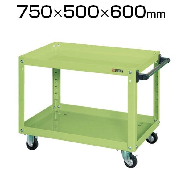 EKR-206| サカエ スーパーワゴン(ゴム車) ツールワゴン 均等耐荷重150kg/段 幅750×奥行500×高さ600mm