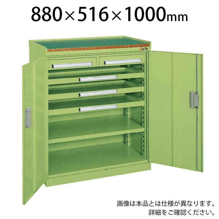 サカエ ミニ工具室 K-101N 幅880×奥行516×高さ1000mm 工具保管 工具キャビネット
