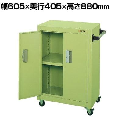 サカエ パネルワゴン(ゴム車・扉付き) PMW-6A 幅605×奥行405×高さ880mm 均等耐荷重150kg