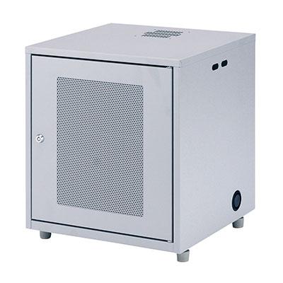 サーバーラック NAS、HDD、ネットワーク機器収納ボックス W450×D420×H508mm