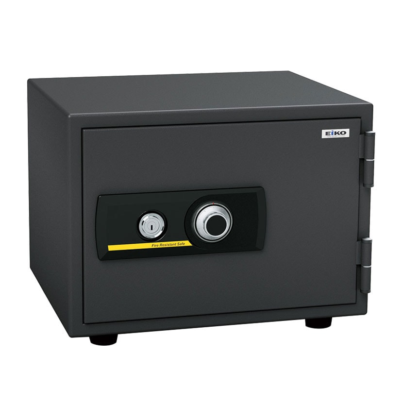 【エーコー】家庭用 小型 耐火金庫 ダイヤル式 A4用紙収納可 トレー4段/BSS-4