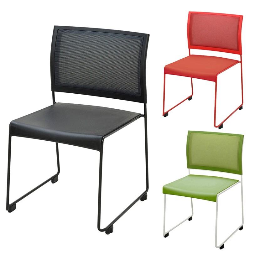 ループ脚チェア スタッキングチェア 会議椅子 幅515×奥行530×高さ804mm SUM