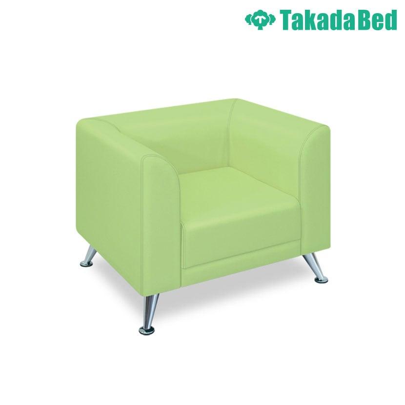 高田ベッド ソファー・チェア TB-1019-01 NMキング(01) デザイン性 美しいアルミ脚 背もたれ/肘曲線仕上 サイズ/カラー(18色)選択可能