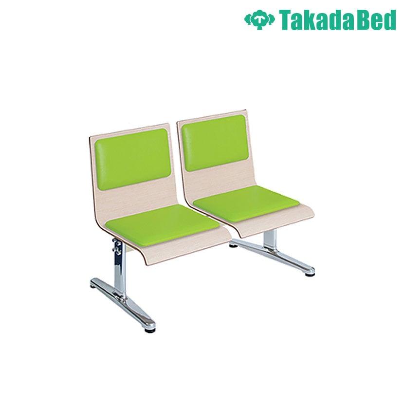 高田ベッド ソファー・チェア TB-1163-01 モッカー(二人掛) ゆったり空間 待合室 衛生的 鏡面仕上げアルミベース採用 カラー(シート部 18色)選択可能