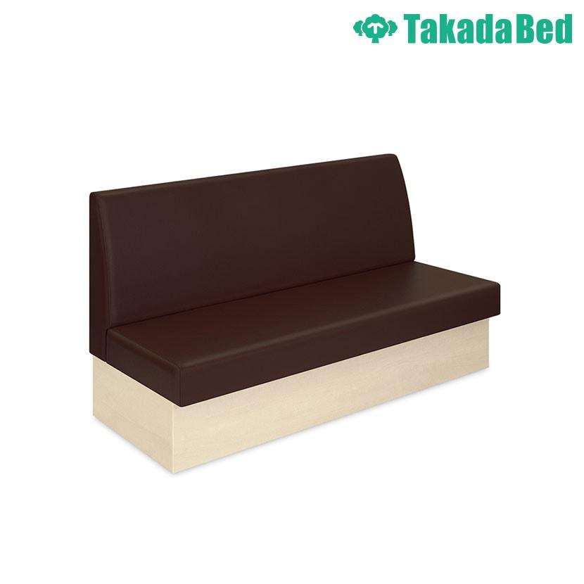 高田ベッド ソファー・チェア TB-1200-01 ボックスLX(01) 待合室 木目調 壁面据置専用 大型収納付 サイズ/カラー(台座:3色 背座:18色)選択可能