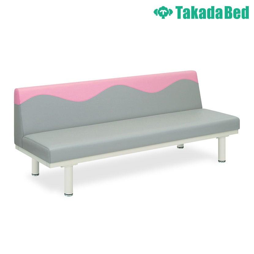 高田ベッド ソファー・チェア TB-1254-02 ウェーブソファー(02) 背もたれウェーブ縫製 明るい院内 衛生的 サイズ/カラー(背もたれ上部/座面 18色)選択可能