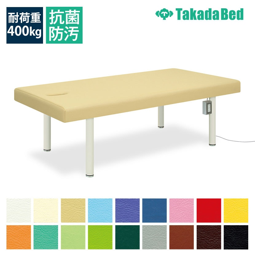 高田ベッド リード 診察/施術台 有孔タイプ 3口コンセントボックス(1200Wまで)付属 ワイドサイズ TB-313U サイズ/カラー(18色)選択可能