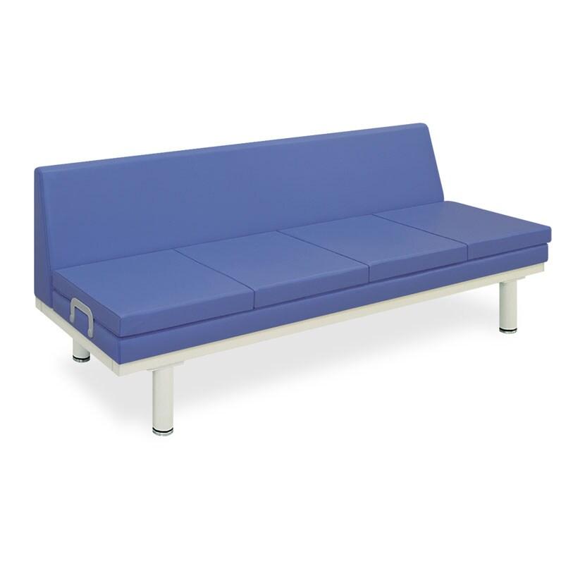 高田ベッド ソファー・チェア TB-592 592型ソファー・背付き 座部マット付き/長さ90cm×2枚 135cm×3枚 180cm×4枚 サイズ/カラー(18色)選択可