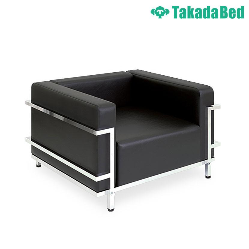 高田ベッド ソファー・チェア TB-742-01 グライド(01) 待合室 クッション性追求 ゆったり座面 クロムメッキフレーム サイズ/カラー(18色)選択可能