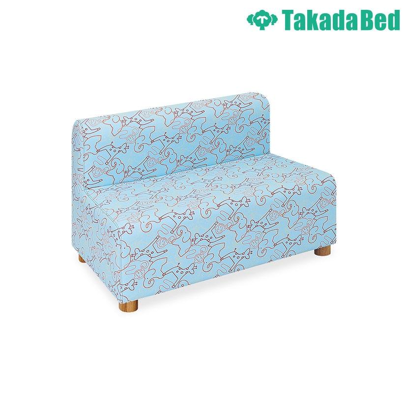 高田ベッド ソファー・チェア TB-815-02 パークベンチ(02) パークレザー動物柄 かわいい 低床タイプ サイズ/カラー(3色)選択可能